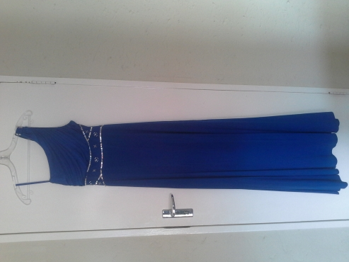 Blue dress worn once size 12