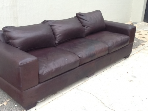 genuine leather 3 seater couch