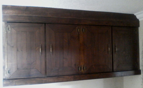 Kitchen Cupboard Wall unit Farmhouse series 1800 Stained