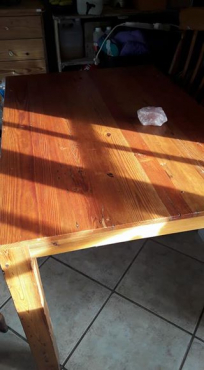 Oregon pine coffee table