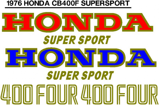 1976 Honda CB 400F decals stickers graphics kits