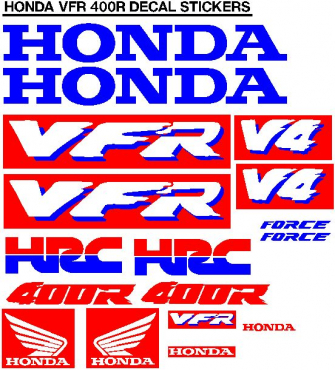 Honda NC 30 VFR decals stickers graphics kits