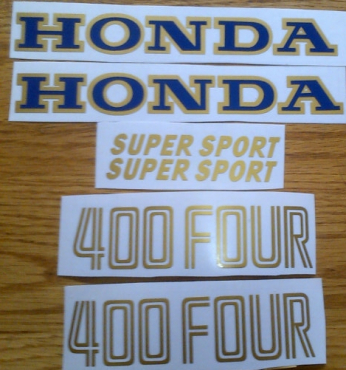 1976 Honda CB 400F decals stickers graphics kits