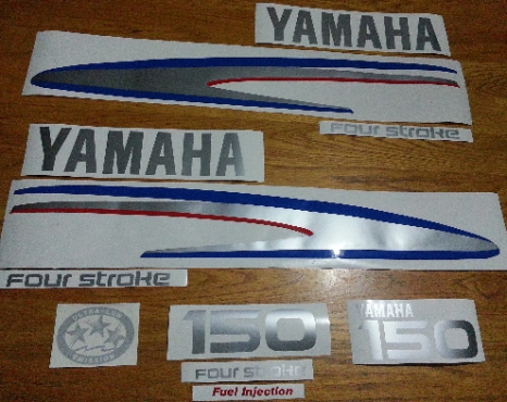 Yamaha four stroke outboard motor cowl decals stickers graphics kits