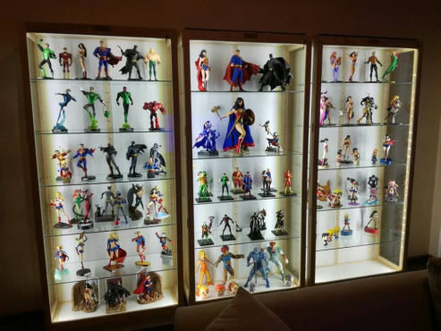 Character and Models Display/Show Cabinet Custom made Quality Cabinets,  Dust Proof!