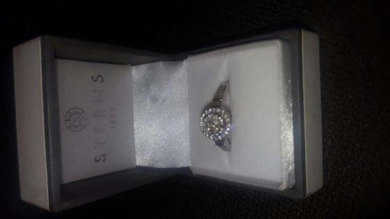 DIAMOND WHITE GOLD RING FOR SALE