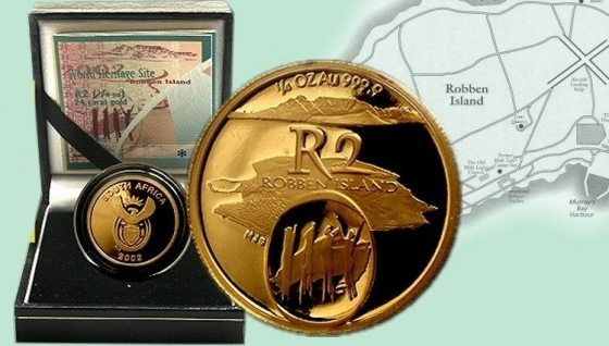 NGC Graded OF68UC - Gold Proof Heritage R2 1/4oz - Robben Island - Mintage 700 - Selling at halfprice
