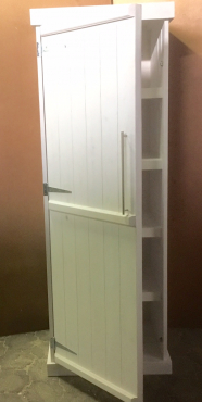 Kitchen Cupboard Farmhouse series Free standing 2100 with 1 door White washed