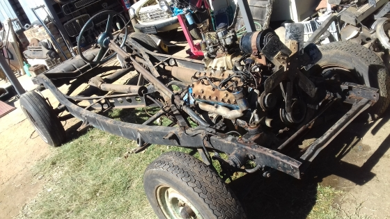 1948 Ford complete rolling chassis with side valve V8 engine