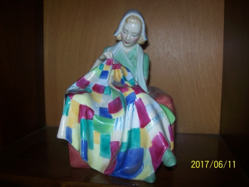 Royal Doulton 1943 The Patelwork Quilt figurine for sale