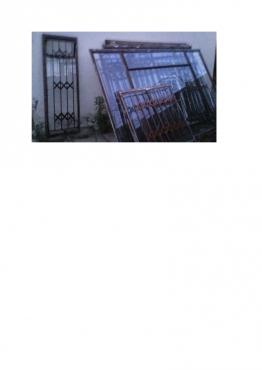 WINDOW FRAMES WITH BURGLAR BARS FOR SALE
