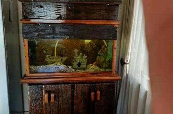 1 Sleeper wood fish tank