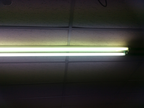 Fluorescent light fittings