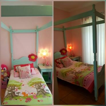 Princess bed including bedside table