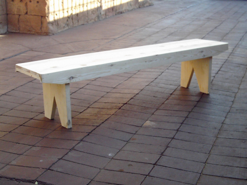 Solid Pine Bench (2400x400x450)