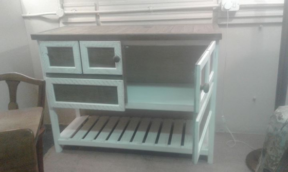 Distressed Children's room unit or sideboard