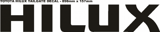 Toyota HILUX tail gate decal sticker graphic
