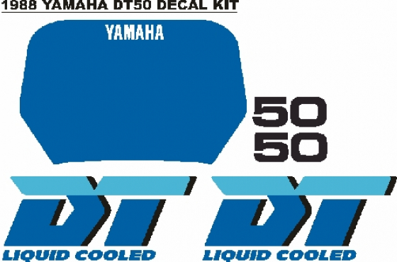 1988 Yamaha DT50 LC decals stickers graphics kit