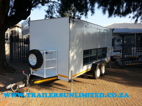 MOBILE KITCHEN. CATERING TRAILERS UNLIMITED.
