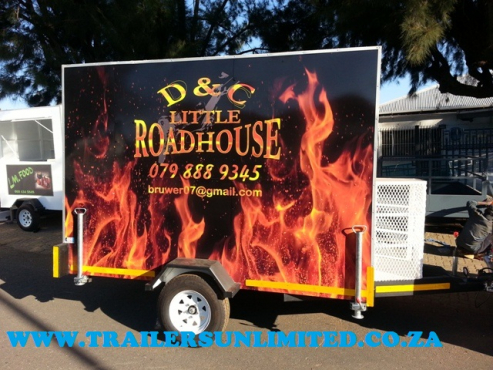 TRAILERS UNLIMITED WE MANUFACTURE THE BEST CATERING TRAILERS.