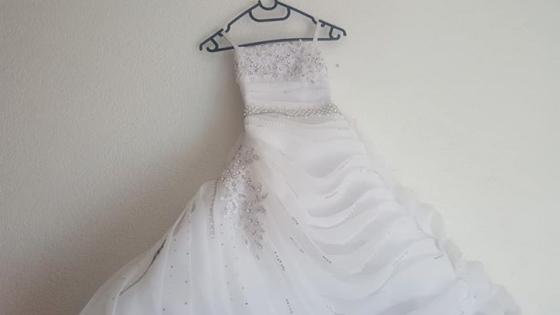 Girls (4-5) bridesmaid's white dress