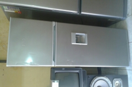 K.I.c silver fridge freezer for sale