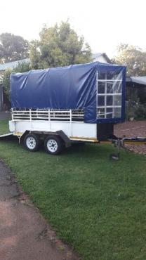 Double axle multi purpose trailer for sale