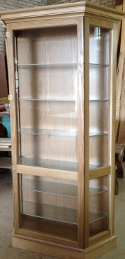 Wood & Glass CABINETS for Models, Collectibles and Character Display
