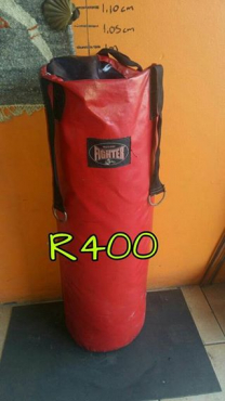 Red fighter punching bag