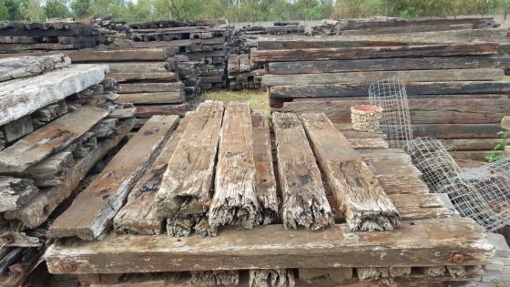 tree aloes and railway sleepers