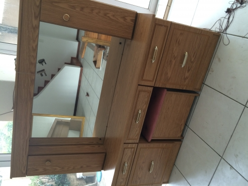 Headboard and dresser