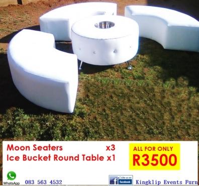 Moon Seaters & Ice Bucket Table