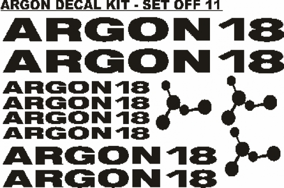 Argon 18 frame and wheel rim decals stickers graphics kits