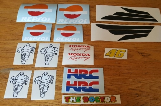 Fairing sponsor logo decals stickers graphics kits for all motorcycles