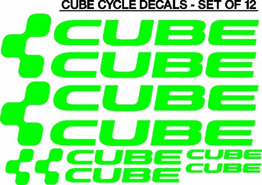 CUBE frame decals stickers graphics kits