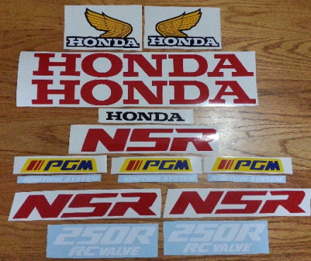 1988 honda NSR 250R decals stickers graphics kit