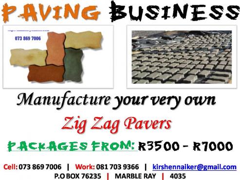 MAKE MONEY! INTERLOCKING PAVING BRICK Home Business