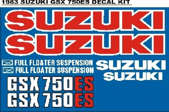 1983 Suzuki GSX 750 ES vinyl cut decals graphics stickers