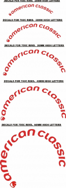 American classic 700C Bicycle wheel rim decals stickers graphics