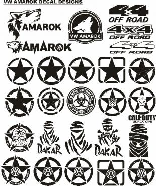 vw amarok decals stickers graphics sets junk mail