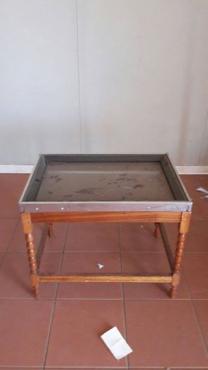 Tafel met glasblad
