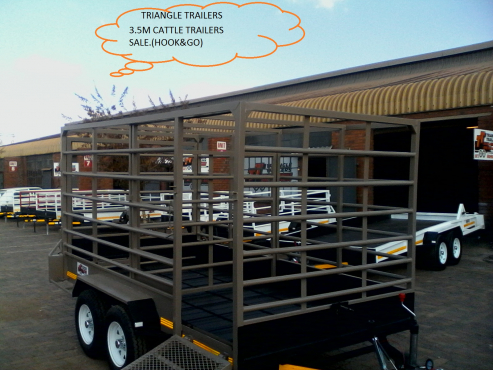 BIG SALE ON 3.5M CATTLE TRAILERS.HOOK&GO