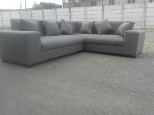 new quality grey corner lounge suite