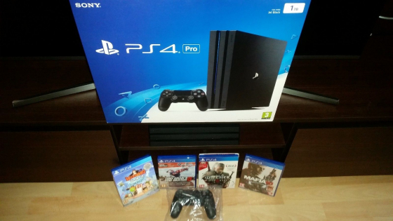 PlayStation 4 Pro (PS4) 1000GB (1TB) Jet Black Console with