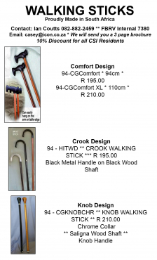 BUDGET WALKING STICKS. EXCELLENT QUALITY AT REASONABLE PRICES