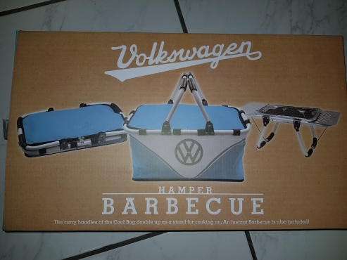VW picnic basket and portable braai set