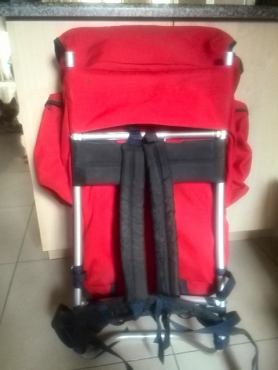 New hiking backpack on an aluminium frame for sale