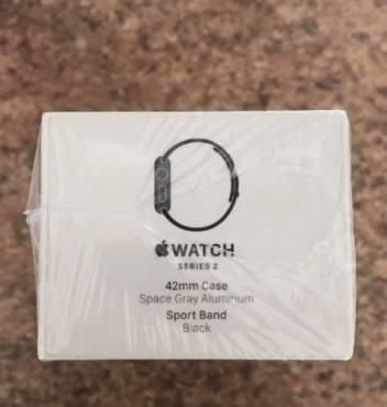 Apple Watch Series 2 42mm Space Grey gray Aluminum Black Sport Band