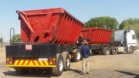 34 ton Side Tipper Trailers and Trucks contracts available