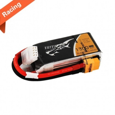 Tattu 1300mAh 11.1V 75C 3S1P Lipo Battery Pack Racing